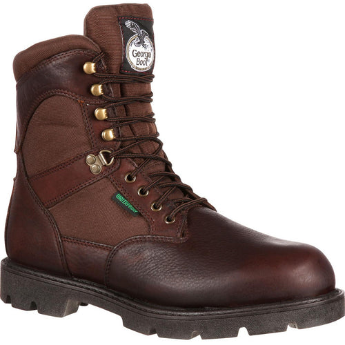 Men's Georgia Boots Homeland Waterproof Insulated Work Boots - yeehawcowboy