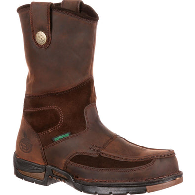 Men's Georgia Athens Waterproof Wellington Work Boots - yeehawcowboy