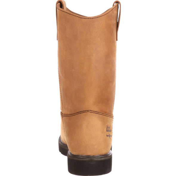 Men's Georgia Boots Farm and Ranch Wellington Work Boots - yeehawcowboy