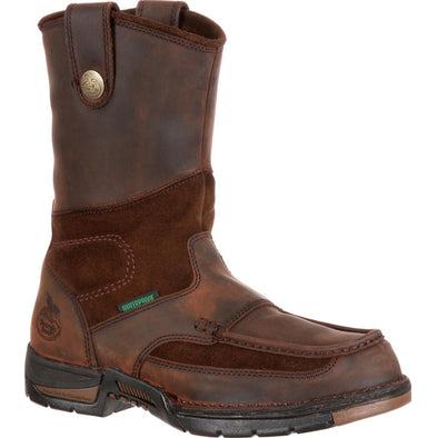 Men's Georgia Athens Steel Toe Waterproof Wellington - yeehawcowboy