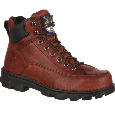 Men's Georgia Boots Eagle Light Wide Load Steel Toe Work Hiker - yeehawcowboy