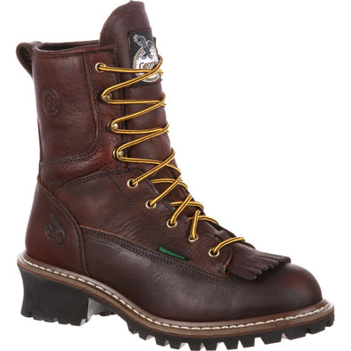 Men's Georgia Boots Steel Toe Waterproof Logger Boots - yeehawcowboy