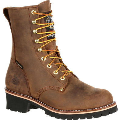 Men's Georgia Boots Steel Toe Waterproof Insulated Logger Work Boots - yeehawcowboy