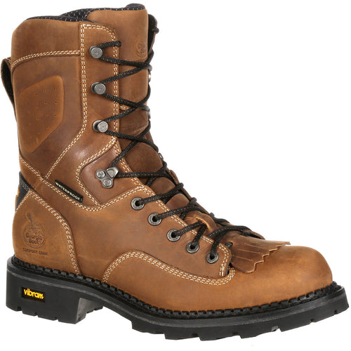 Men's Georgia Boots Comfort Core Waterproof Low Heel Logger Work Boots - yeehawcowboy