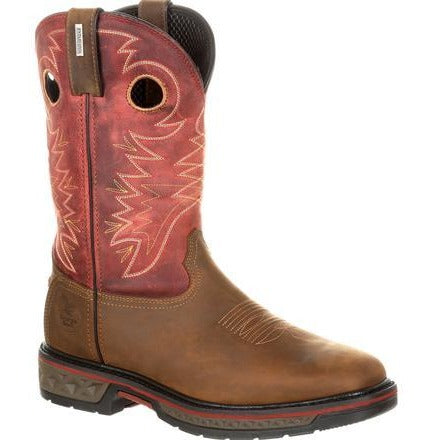 Men's Georgia Boots Alloy Toe Carbo-Tec Waterproof Pull-On Boots - yeehawcowboy