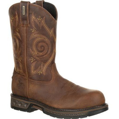 Men's georgia boots carbo-tec lt composite toe waterproof work wellington - yeehawcowboy