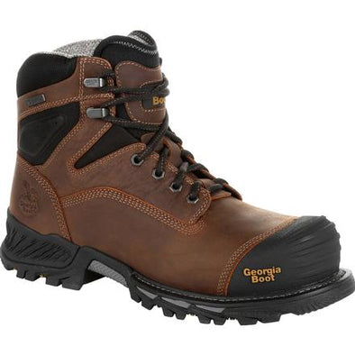 Men's georgia boots rumbler composite toe waterproof work boots - yeehawcowboy