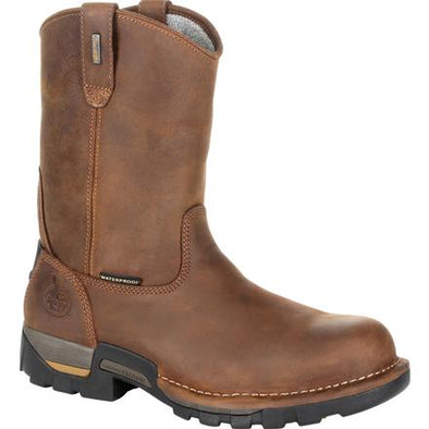 Men's Georgia Boots Eagle One Waterproof Pull On Work Boot - yeehawcowboy