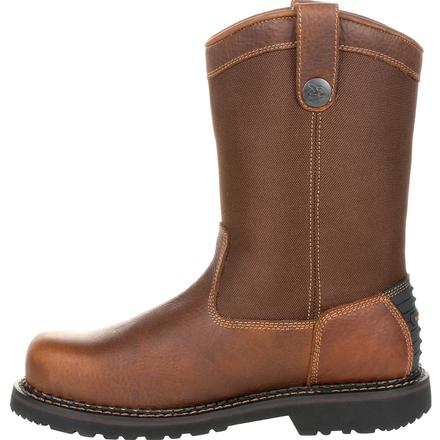 Men's Georgia Giant Revamp Steel Toe Waterproof Pull-On Work Boots - yeehawcowboy