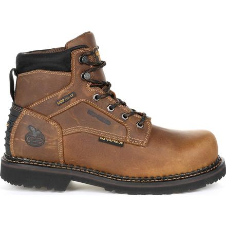 Men's Georgia Giant Revamp Steel Toe Internal Met-Guard Waterproof Work Boots - yeehawcowboy