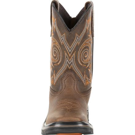 Kid's Georgia Boots Carbo-Tec Lt Big Kids Brown Pull-On Boots - yeehawcowboy
