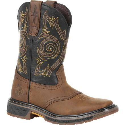Kid's Georgia Boots Carbo-Tec Lt Big Kids Pull-On Saddle Boots - yeehawcowboy