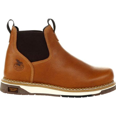 Men's Georgia Boots Amp Lt Wedge Chelsea Work Boots - yeehawcowboy