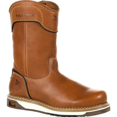 Men's Georgia Boots Amp Lt Wedge Pull On Work Boots - yeehawcowboy