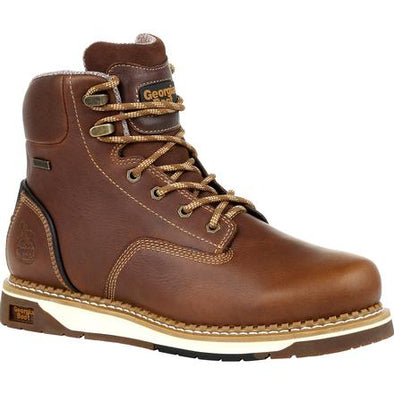 Men's Georgia Boots Amp Lt Wedge Steel Toe Waterproof Work Boots - yeehawcowboy