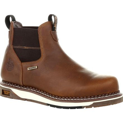 Men's Georgia Boots Wedge Waterproof Chelsea Work Boots - yeehawcowboy