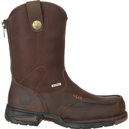 Men's Georgia Boots Athens Waterproof Pull On Work Boots - yeehawcowboy