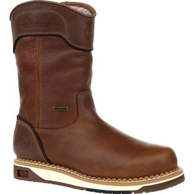 Men's Georgia Boots Amp Lt Wedge Waterproof Pull On Work Boots - yeehawcowboy