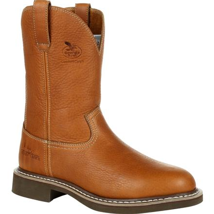 Men's Georgia Boots Farm & Ranch Pull-On Work Boots - yeehawcowboy