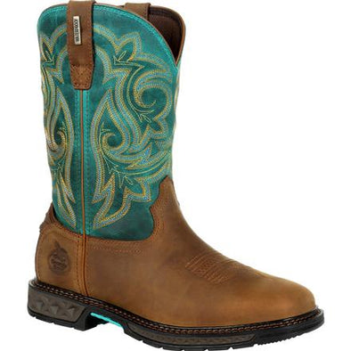 Women's Georgia Boot Carbo-Tec Lt Waterproof Pull-On Boot - yeehawcowboy