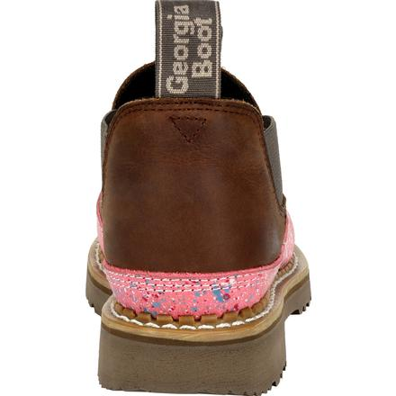 Women's Georgia Boots Georgia Giant  Brown And Pink Romeo Shoes - yeehawcowboy