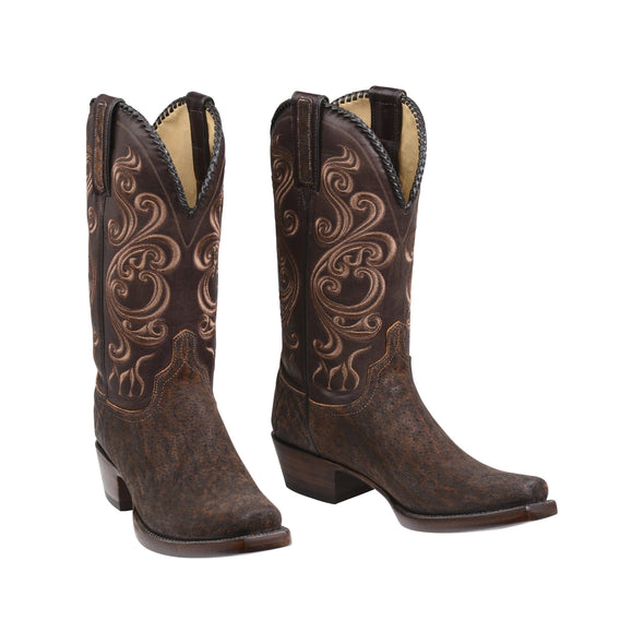 Men's Lucchese Terlingua Elephant Boots Handcrafted Cognac - yeehawcowboy