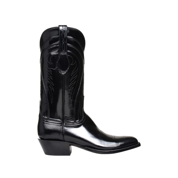 Men's Lucchese Gavin Goat Boots Handcrafted Black - yeehawcowboy