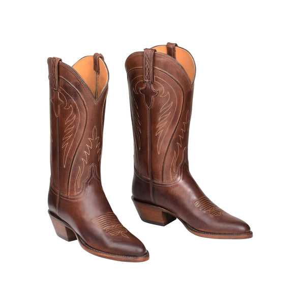 Women's Lucchese Summer Leather Boots Handcrafted Tan - yeehawcowboy