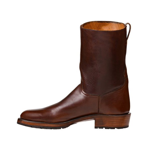 Men's Lucchese Powell Leather Boots Handcrafted Chocolate - yeehawcowboy