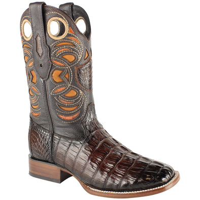 Men's Wild West Caiman Tail Boots Handcrafted - yeehawcowboy