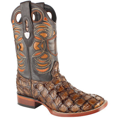 Men's Wild West Pirarucu Fish Boots Handcrafted - yeehawcowboy