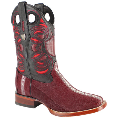 Men's Wild West Stingray Boots Square Toe Handcrafted - yeehawcowboy