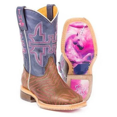 Kids Tin Haul Starlight Boots With Unicorn Sole Handcrafted - yeehawcowboy