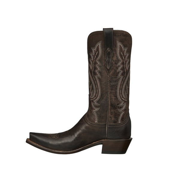 Women's Lucchese Cassidy Mad Dog Goat Boots Handcrafted Chocolate - yeehawcowboy