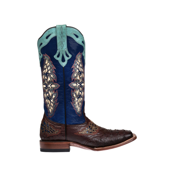 Women's Lucchese Amberlyn Full Quill Ostrich Boots Handcrafted Sienna - yeehawcowboy