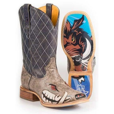 Men's Tin Haul Not Boaring Boots With Rough N Tough Sole - yeehawcowboy