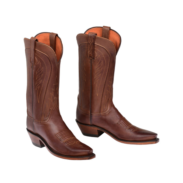 Women's Lucchese Amberle Leather Boots Handcrafted Tan - yeehawcowboy