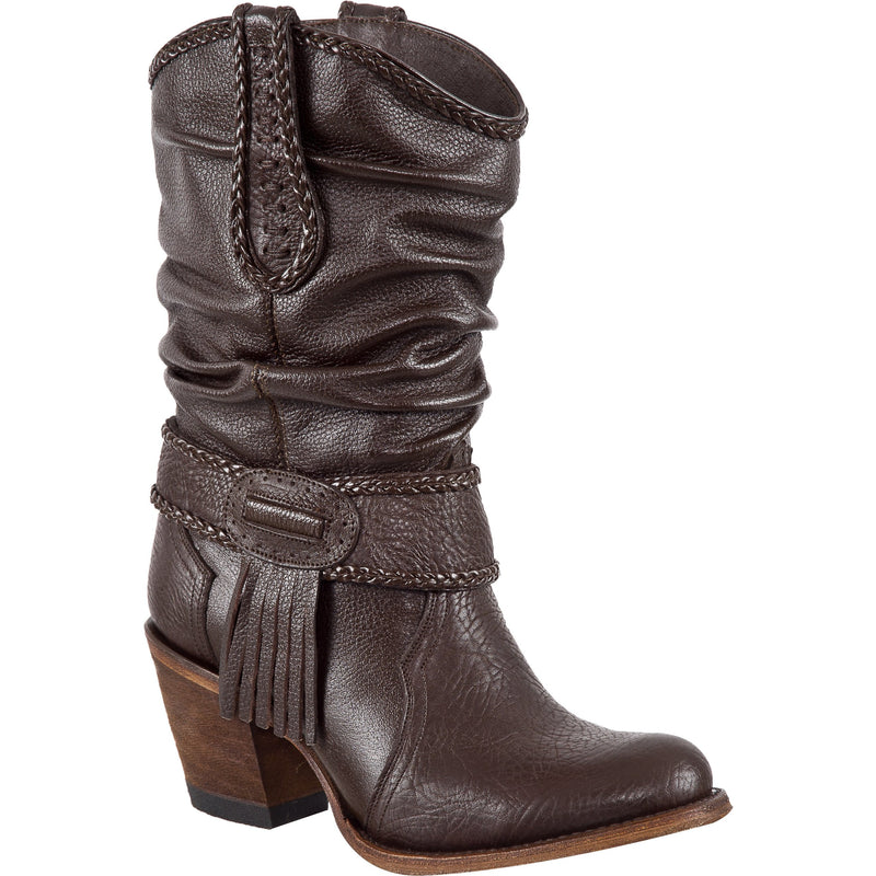 Women's PR Boots Wrinkled Shaft Round Toe Handcrafted - yeehawcowboy