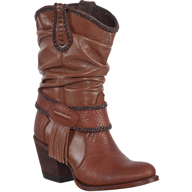 Women's Quincy Boots Wrinkled Shaft Round Toe Handcrafted - yeehawcowboy