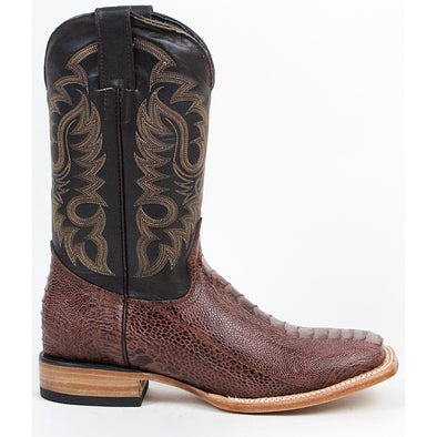 Men's Quincy Ostrich Leg Print Boots Square Toe Handcrafted - yeehawcowboy