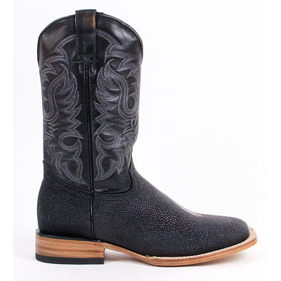 Men's Quincy Stingray Print Boots Square Toe Handcrafted - yeehawcowboy