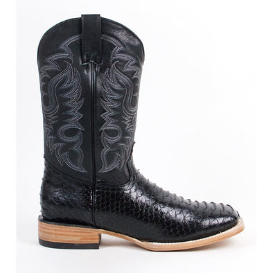 Men's Quincy Python Print Boots Square Toe Handcrafted - yeehawcowboy