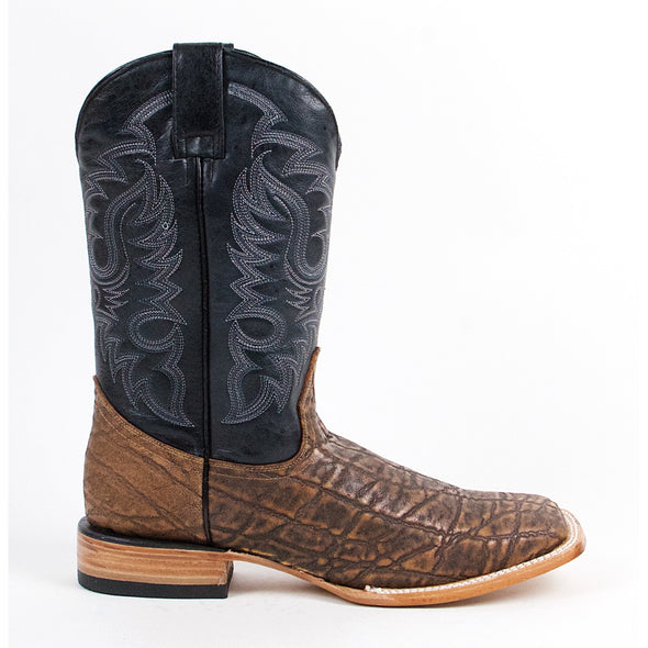 Men's Quincy Elephant Skin Print Boots Square Toe Handcrafted - yeehawcowboy