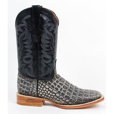 Men's Quincy Alligator Print Boots Square Toe Handcrafted - yeehawcowboy