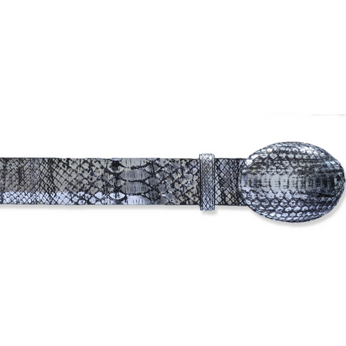 Los Altos Python Belt With Removable Buckle & Leather Lining Handcrafted - yeehawcowboy