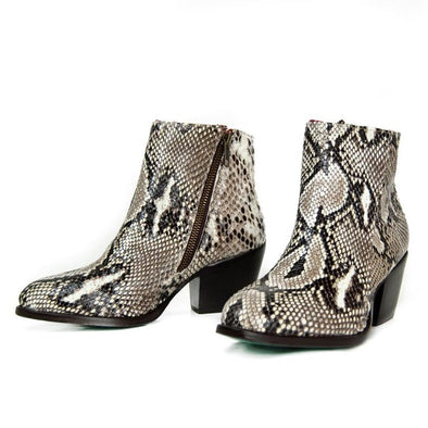 Women's Alcalas Elia Natural Python Boots Handcrafted - yeehawcowboy