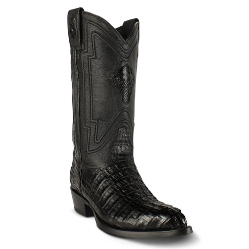 Men's Yeehaw Cowboy Caiman Tail Boots J Toe Handcrafted - yeehawcowboy