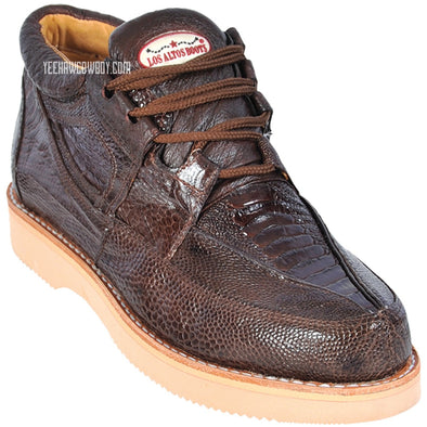Men's Los Altos Ostrich Leg Casual Shoes Handcrafted - yeehawcowboy