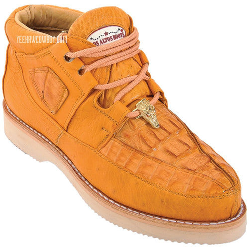Men's Los Altos Caiman With Smooth Ostrich Casual Shoes Handcrafted - yeehawcowboy