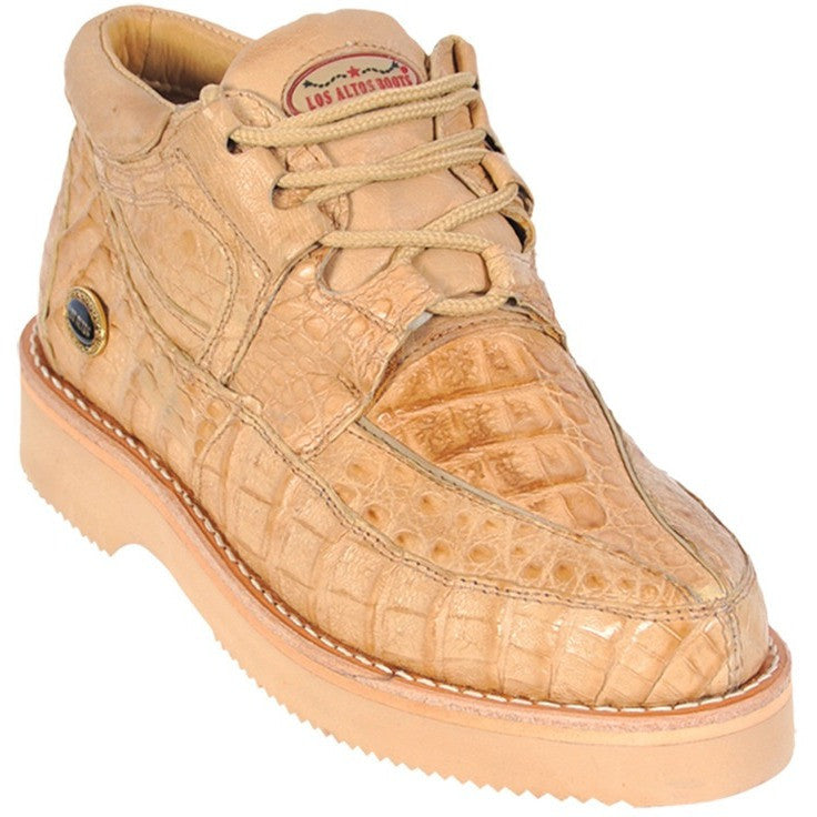 Los Altos Boots_Men's Casual Full Caiman Shoes
